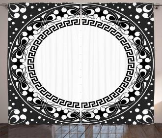 Spirals Swirls Circle Curtain