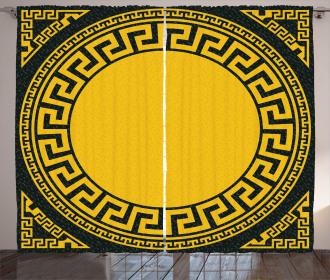 Sun Inspired Circle Curtain