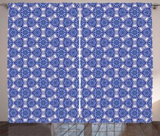 Blue Mosaic Curtain