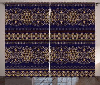 Damask Border Curtain