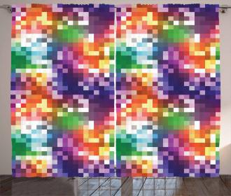 Rainbow Colored Square Curtain