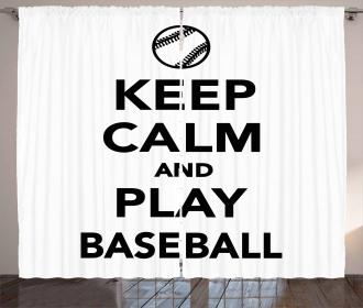 Play Baseball Theme Curtain