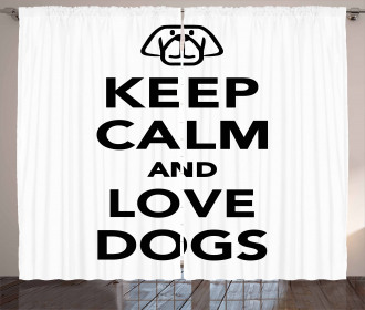 Quote for Dog Lovers Curtain