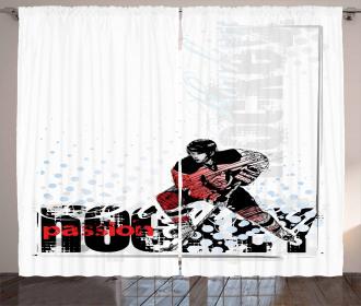 Goalie Playing Artwork Curtain