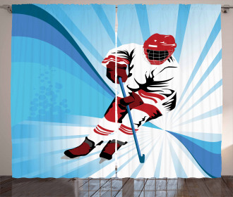 Player Strong Shot Goal Curtain