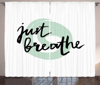 Modern Brush Quote Curtain