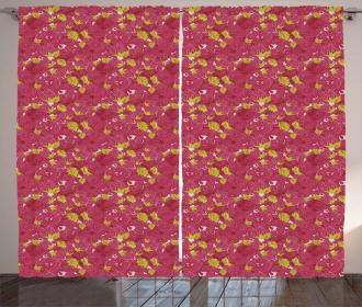 Vibrant Fresh Petals Curtain