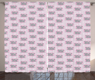 Mouse Hearts Curtain