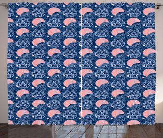 Asian Ornate Motifs Curtain