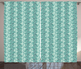 Oaks with Acorns Pattern Curtain
