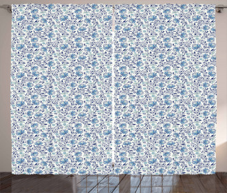 Blossoming Bluebelles Curtain