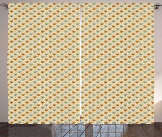Flower Corsage Pattern Curtain