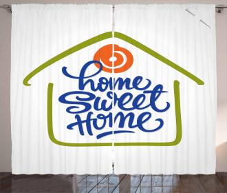 Doodle House Curtain