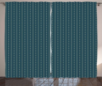 Vertical Abstract Line Curtain