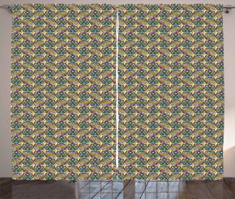 Boho Mandala Patchwork Curtain