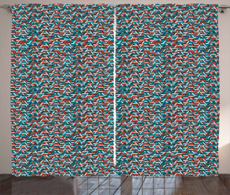 Triangle Shapes Mosaic Curtain