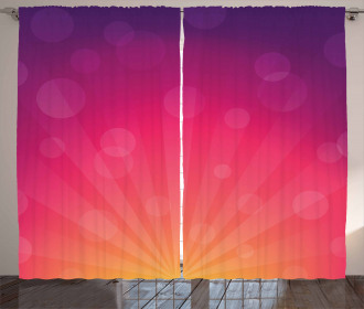 Ombre Circles Curtain