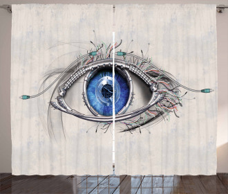 Futuristic Mechanic Sight Curtain