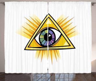 Mystical Triangle Wisdom Curtain