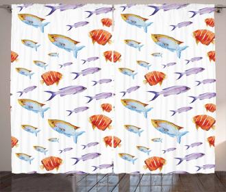 Goldfish and Mackerel Curtain