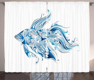 Abstract Betta Splenden Curtain