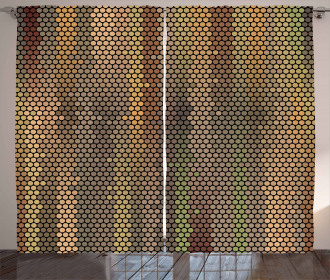 Disco Party Dots Curtain