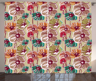 Colorful Poppies Curtain