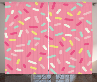 Donut Sprinkles Curtain