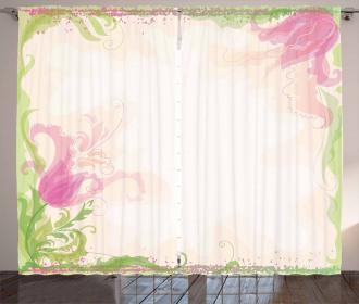 Pastel Tulips Curtain
