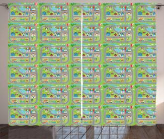 Farm Factory Curtain