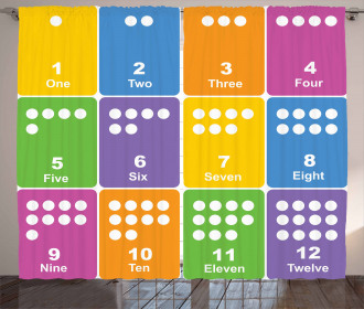 Colorful Numbers Curtain