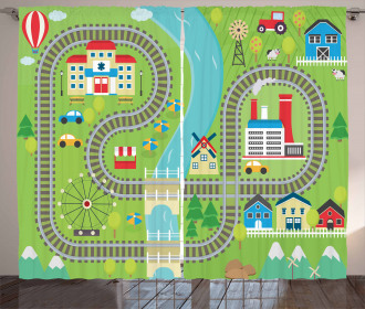 Country Town Curtain