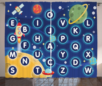 Space Letters Curtain