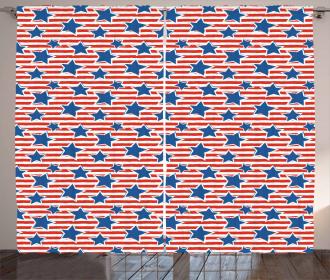 American Glory Design Curtain