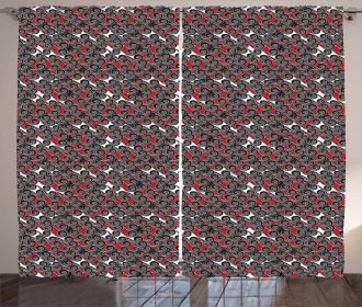 Abstract Artsy Motif Curtain