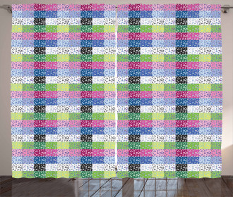 Checkered Funky Curtain