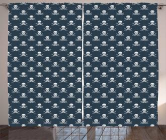 Jolly Roger Pattern Curtain