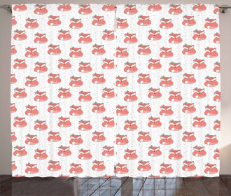 Abstract Dotted Background Curtain