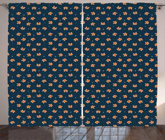 Small Orange Forest Mammal Curtain