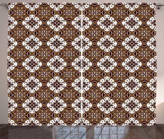 Batik Floral Pattern Curtain
