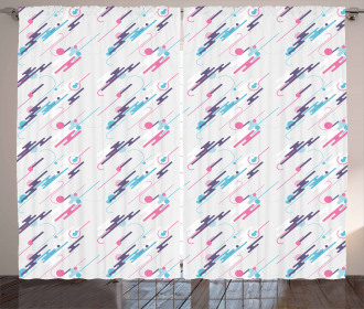 Eighties Style Futuristic Curtain