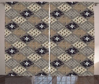 Old Fashioned Batik Pattern Curtain