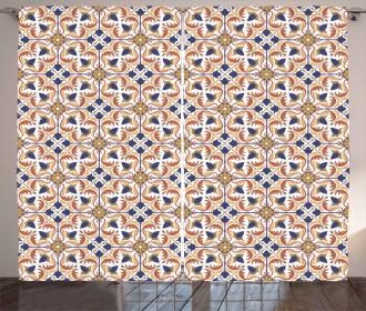 Arabesque Scroll Tile Curtain