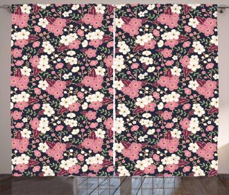 Night Garden Sakura Curtain