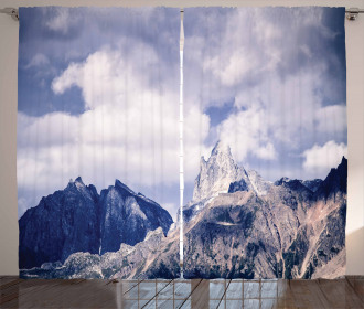 Craggy Peaks Mountains Curtain