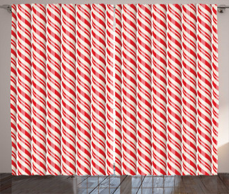 Red Christmas Sweets Curtain