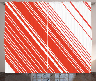 Barcode Lines Design Curtain
