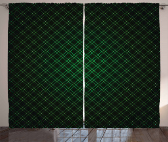 Future Grid Pattern Curtain