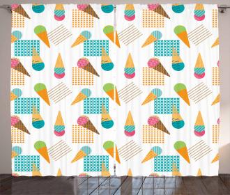 Geometrical Graphic Curtain