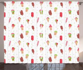 Summertime Watercolor Curtain
